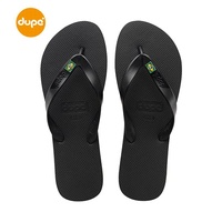 Dupe Brazil New Style Brazil Rubber Flip-flops Men Casual Outer Wear Sandals Flat Anti-slip Sandals