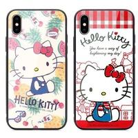 三麗鷗 Hello Kitty 三星 2018 A7 玻璃殼 鋼化玻璃殼 手機殼 玻璃背蓋 質感好 保護殼 凱蒂貓 台中