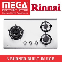 RINNAI RB-73TS 3 BURNER BUILT-IN STAINLESS STEEL HOB / LOCAL WARRANTY