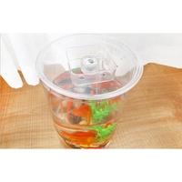 換水魚缸(YG6230) 迷你生態小魚缸 辦公室桌面創意塑料小型金魚缸水族箱LED造景居家必備xxxxxboykimo