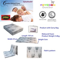 Goodnite Spinahealth Rebond Foam Foldable Mattress with carry bag