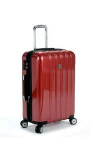 """Brand New Delsey Helium Aero 25"""" Expandable Spinner Trolley, Brick Red (Red) - 07647RD"""