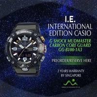CASIO INTERNATIONAL EDITION G SHOCK MUDMASTER CARBON CORE GUARD GG-B100-1A3 KHAKI GREEN
