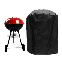 Barbeque BBQ Grill Waterproof Cover Rain Dust Protector For Weber Kettle Grill of 47-50cm Diameter
