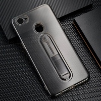 For OPPO F7/A3 TPU Full Protection Back Case Cover with Finger Ring Holder Bracket  Style:OPPO F7/A3