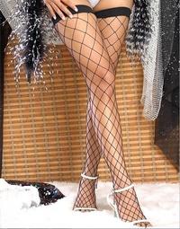 2066 性感大網眼情趣絲襪網襪尼龍漁網襪大腿襪長筒襪 三色