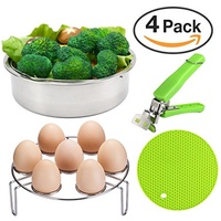 [VERONES] Instant Pot Accessories, Steamer Basket Set for Instant Pot Accessories with Egg Steamer R