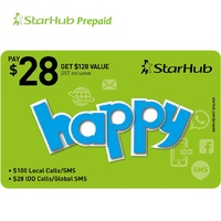 Starhub Happy 128 Prepaid Top-Up. 128 Value for only 28
