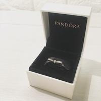 Pandora 潘朵拉 蝴蝶結鑲鑽戒指 #54