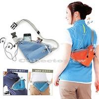 ✤宜家✤百搭運動多功能貼身收納腰包 可前後背掛臀圍包 騎行水壺腰包