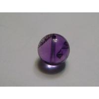 紫骨幹 紫三輪骨幹 超七水晶 紫髮晶 約11mm 有穿洞 手作材料