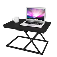 BAIZE zdz-01f Sit Stand Dual-use Desk Modern Simple Adjustable Height Desk Foldable Office Desk Riser Notebook Laptop Stand Notebook Monitor Holder