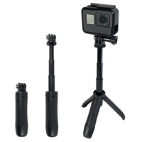 discount Mini Tripod Mount Selfie Stick Extendable Monopod for Gopro Hero 7 6 5 4 3+ 3 SJCAM Xiaomi