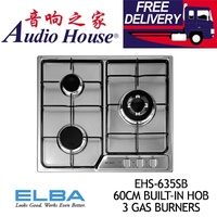 ELBA EHS-635SB 60CM BUILT-IN HOB 3 GAS BURNERS