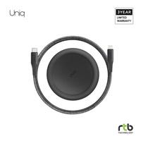 Uniq สายชาร์จ Halo USB-C To Lightning Cable MFi 1.2M - Midnight Black