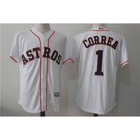 221_Houston Astros休斯頓太空人1號 CORREA 白色球迷MLB球衣