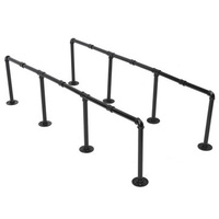 145cm Height Iron Pipe Shelf Retro Design Black Iron Pipe Wall Mount Shelf Shelving Tool