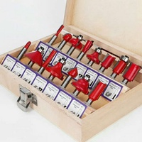 15件一套修邊機刀頭電木銑雕刻機銑刀修邊刀刀具/限量一組