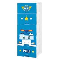 HOUSE POLI 收納五層櫃-人氣波力(藍)