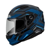 SOL SF6 超新星 消光灰黑藍 內藏式墨鏡 浮動式鏡座 EPS 完全防護 全可拆洗 全罩 安全帽《比帽王》