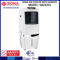 SONA AIR COOLER * SAC6331 * WITH IONIZER AND REMOTE CONTROL * 2 YEARS WARRANTY ON MOTOR