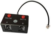 TWO Mute switch Headset training device RJ9 Modular Handset Plug to Dual RJ9/RJ10 Modular Socket Splitter for call center