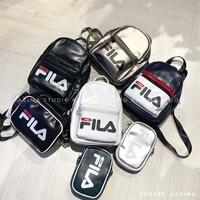 Kazima Fila Logo 皮革 後背包 小背包 小包 側背包 側包 小側包 小方包 手機包 掛包 隨身包 背包