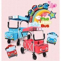 缺貨中-韓國代購正品TOYO小汽車大型雙橫桿帶頂棚手推車/娃娃車/嬰兒手拉車/兒童露營折疊車/拖拉車/行李車-缺貨中