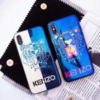法國KENZO藍光手機殼 iPhone X 8 7 XS XR XSmax 6s 6plus手機殼 蘋果外殼 軟殼現貨