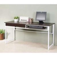 160X60公分單抽單鍵盤架加長實用電腦桌/工作桌/書桌/辦公桌/會議桌(兩色可選)