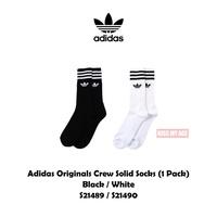 adidas Originals Crew Solid Sock 【高筒】襪子 三葉草 運動襪 長襪 黑白 男女 現貨