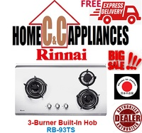 RINNAI  RB-93TS 3 Burner Built-In Hob | Stainless Steel Top Plate | FREE DELIVERY |
