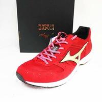 MIZUNO 美津濃 男 WAVE EMPEROR JAPAN 2 日本製 皇速 輕量 耐磨 競速 慢跑鞋 路跑鞋 J1GA187500 紅金[陽光樂活]