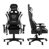 Office Chair with Armrests Ergonomic PU Padded High-Back Executive Chair