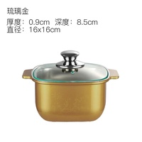 Electromagnetic Furnace Hot Pot Stainless Steel Heat Resistant Sheath Pot Instant-Boiled Mutton Hotel Hotpot Restaurant Single Person Small Hot Pot Soup Pot