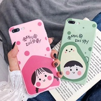 Soft Case OPPO F11 F9 Pro A3s A83 A37 F1s F5 A57 A39 A3 R9s R9 F1 Plus R15 R17 Cute Avocado Peach girl boy