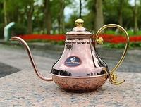 <Tiamo> HA8562 宮廷細口壺.手沖壺 紅銅色.玫瑰金 420ml 手沖咖啡最適用