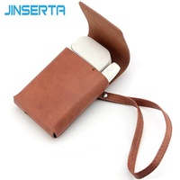 JINSERTA PU Leather Case For IQOS Accessories Portable Bag With Strap Fashion Cover for iqos 2.4 Plus