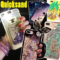 Latest Quicksand casing LED Quicksand Cover case for iPhone 7 6 6s Plus OPPO R11 R9S R9 R9 Plus