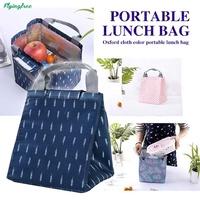 Picnic Storage Bag Lunch Box Tote Travel Oxford Flamingo Pattern Organization Fruits for Handbag Wat