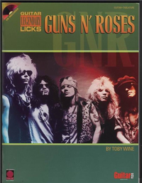 GUNS N' ROSES : Guitar Legendary licks +CD 槍與玫瑰-吉他譜附伴奏CD