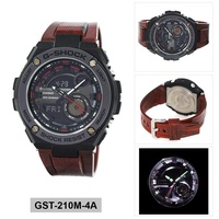 Casio G-Shock G-STEEL Red Stainless-Steel Case Resin Strap Mens GST-210M-4A