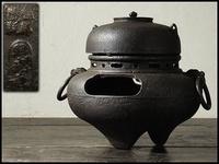 日本鐵製「照光堂」鬼面風爐