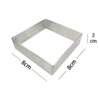 法式洞洞塔圈 方形沖孔塔模304不銹鋼帶孔透氣性 不銹鋼塔圈 法式塔圈