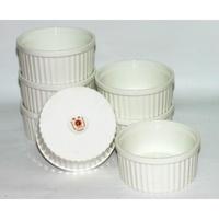 大同 大同象牙強化圓形烤碗(大) 9cm 約150ml 烤皿 烤布丁杯 陶瓷布丁杯 蒸蛋 烤盎 陶瓷烤杯 台灣製造