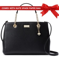 Kate Spade Crossbody Bag Briar Lane Meena Handbag Black # WKRU4482 + Gift Receipt