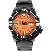 SZEN009 Seiko Monster Automatic 200M Orange Dial Analog Mens Sports Watch