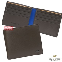 Braun buffel Small Gold Cow harrison Series 8 Card Color Wallet Male bf328