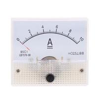 85C1 DC10A Analog Panel AMP Current Testing Meter Ammeter Gauge White
