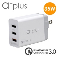 【a+plus】Qualcomm 高通認證QC3.0急速3 PORTs充電器(AQC-302)